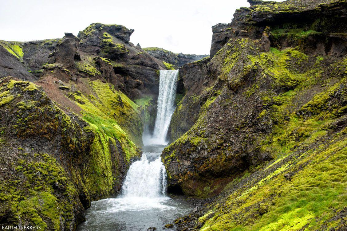 日落瀑布冰岛