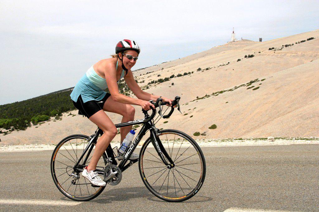 Julie Climbing Mont Ventoux