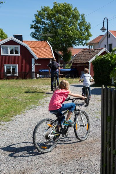 Cycling through Sandhamn