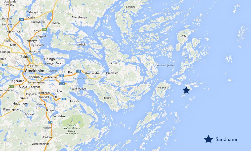 Sandhamn Map