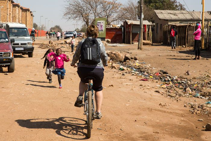 Valerie Cycling Soweto
