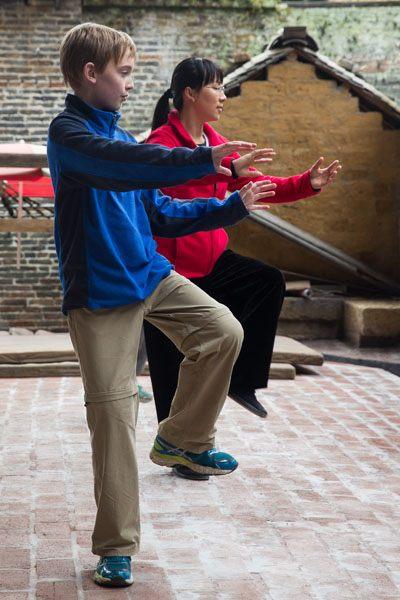 Tyler Rivenbark doing Kung Fu