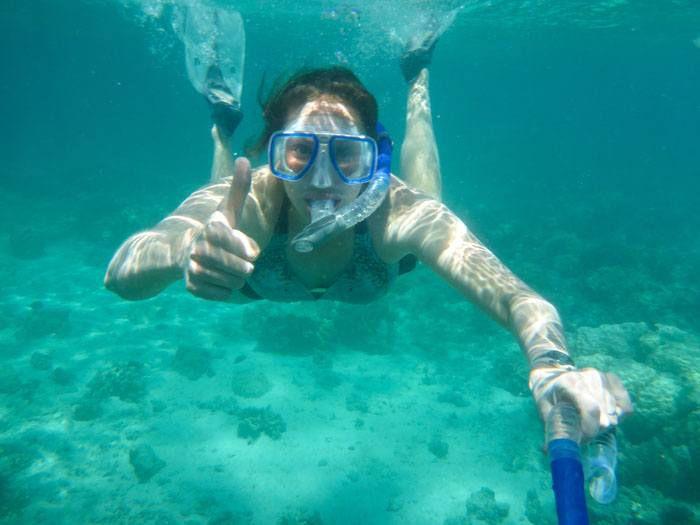 Julie Snorkeling