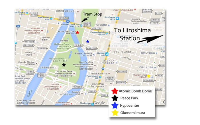 Hiroshima Map | Earth Trekkers