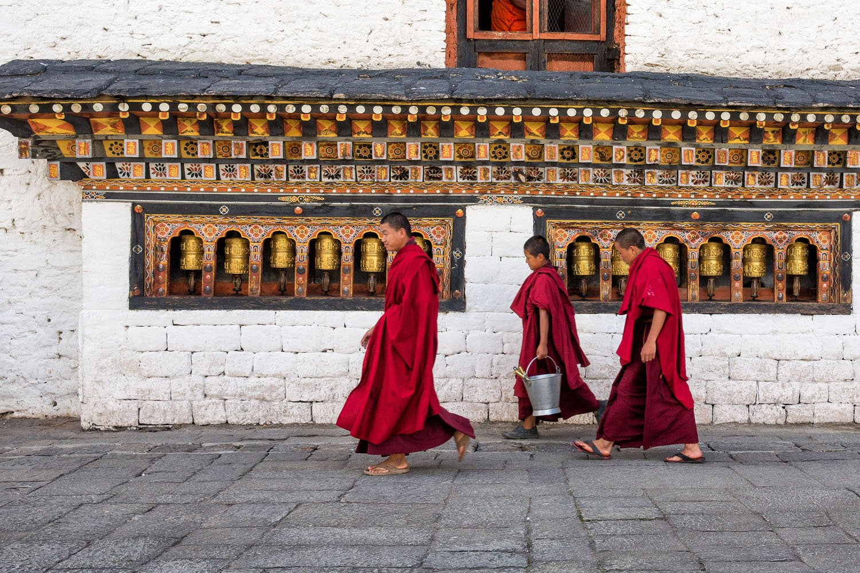 Bhutan Monks in Thimpu