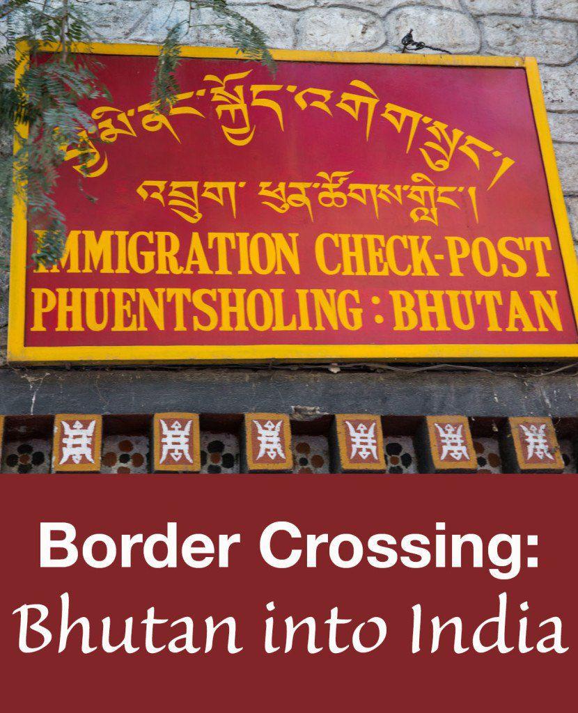 Bhutan into India