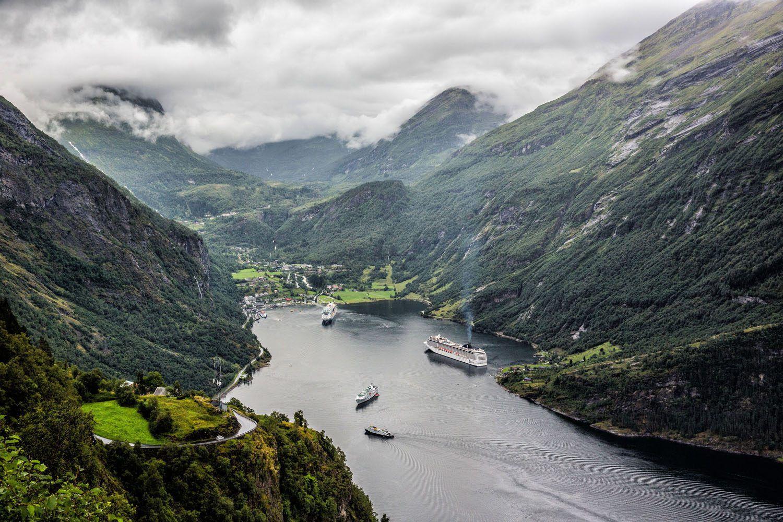 Geirangerfjord in the Rain