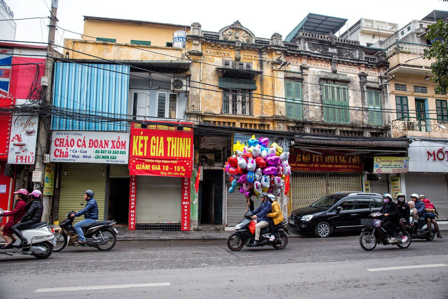 Hanoi Street During Tet