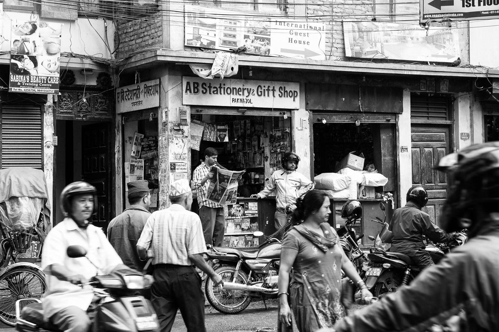 Kathmandu in Black and White