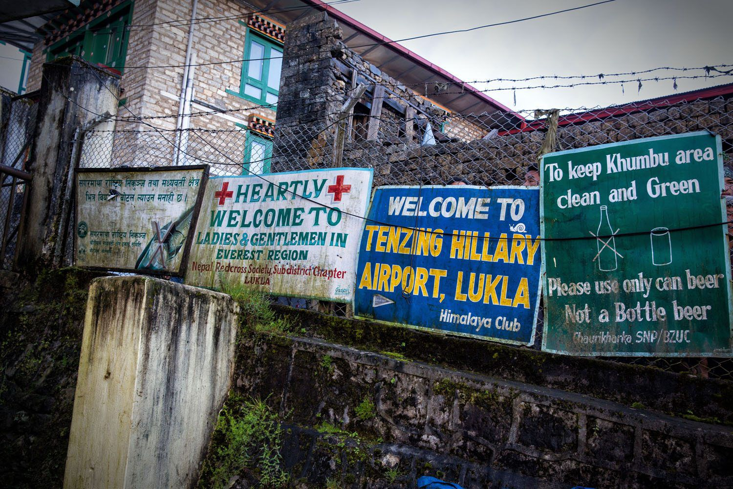 lukla airport signs
