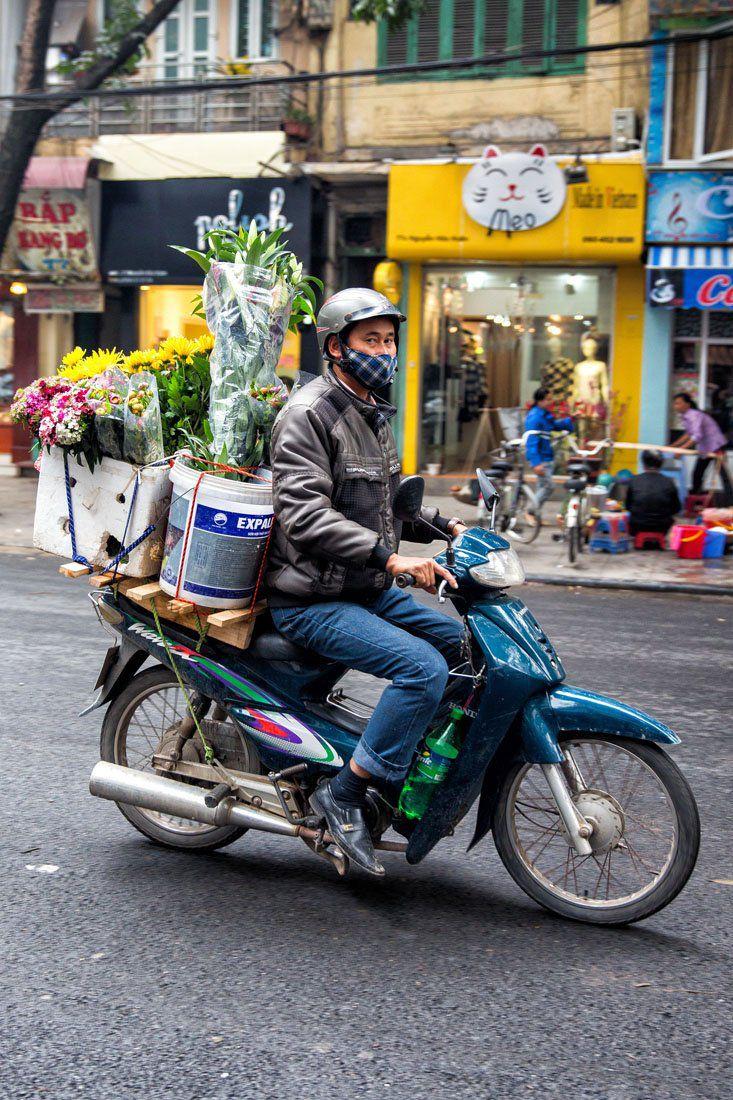Motorbike with Flowers