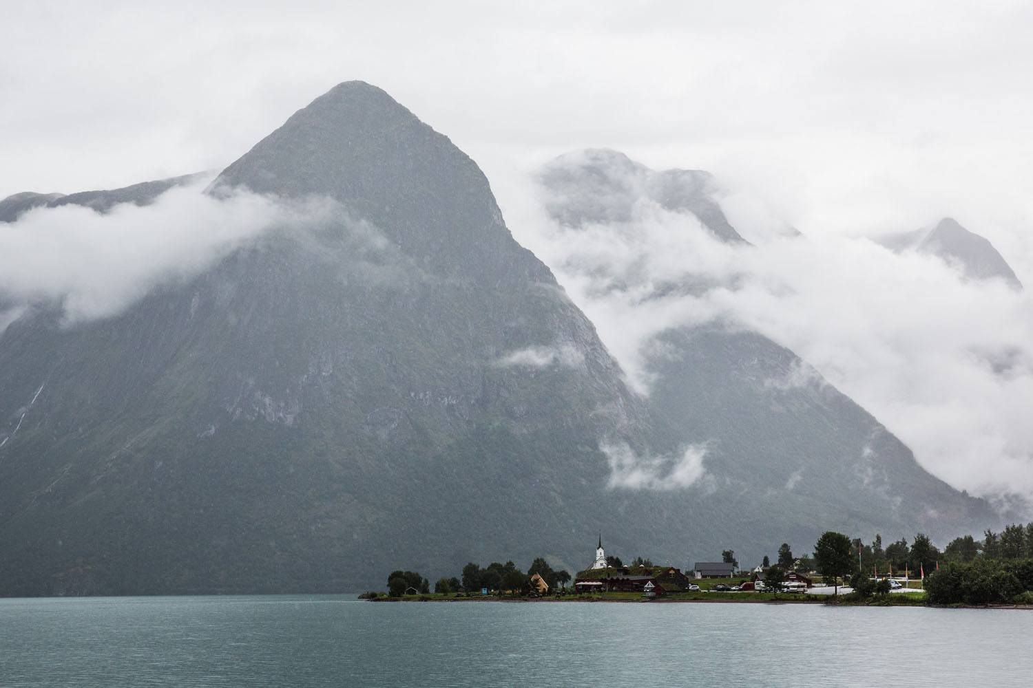Norwegian Fjords on a Rainy Day