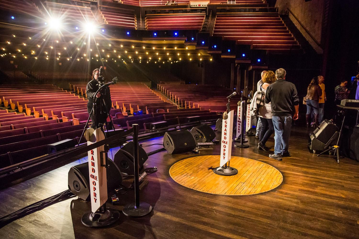 On Stage at the Grand Ole Opry