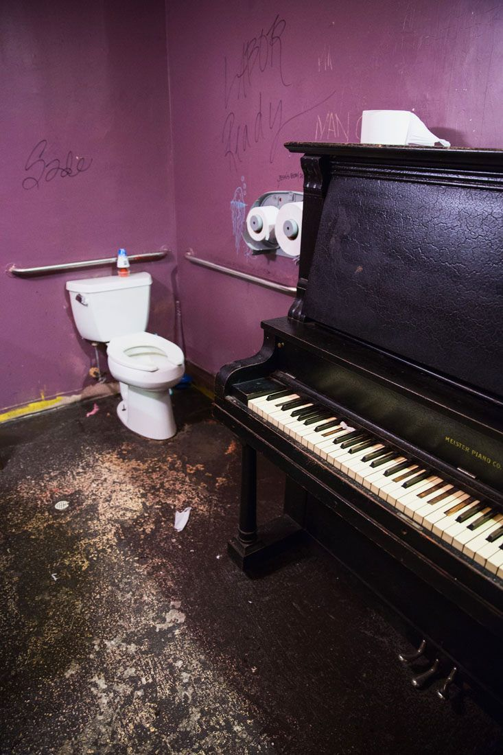 Piano in the bathroom