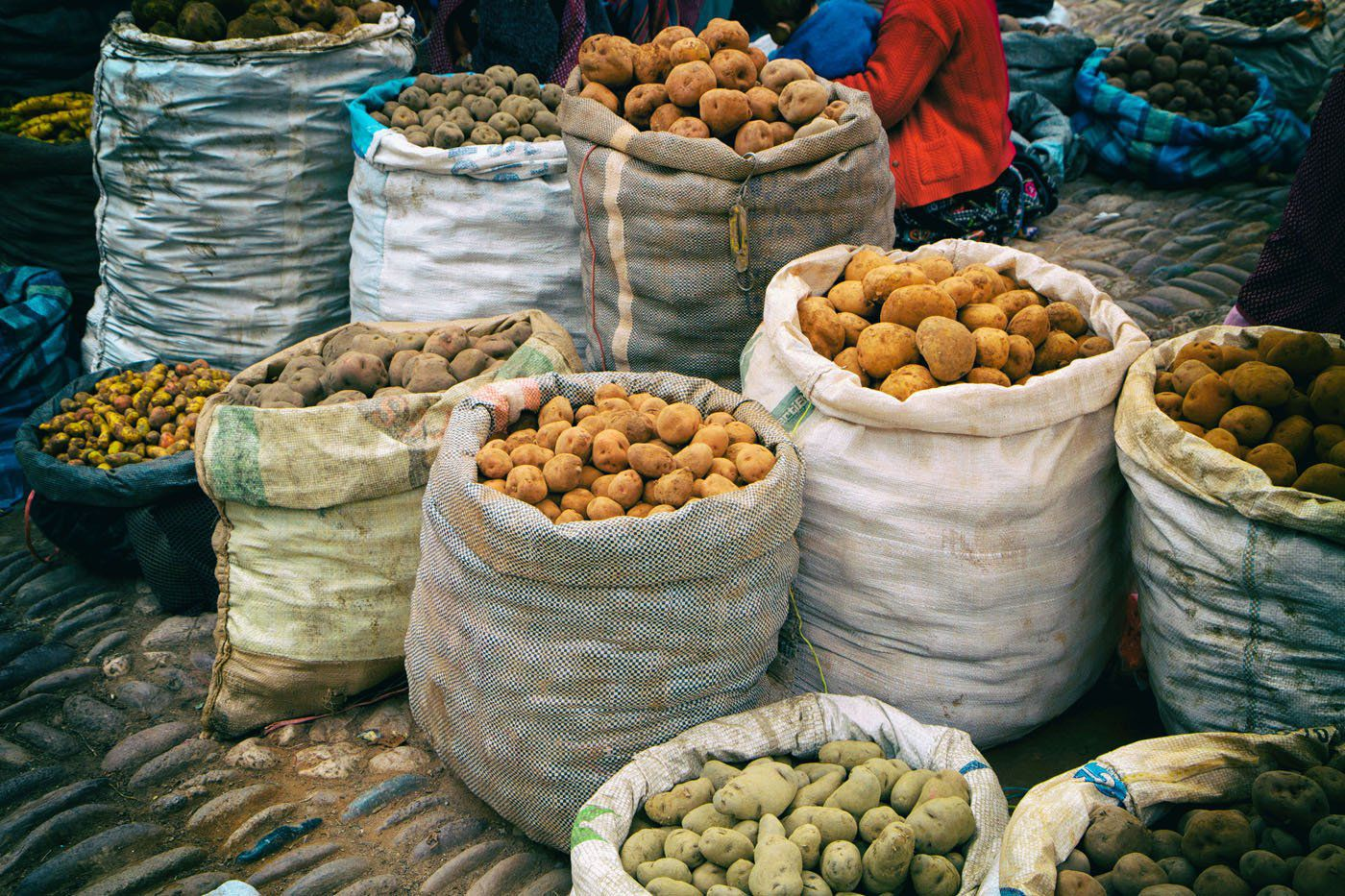 Pisac Market Potatoes