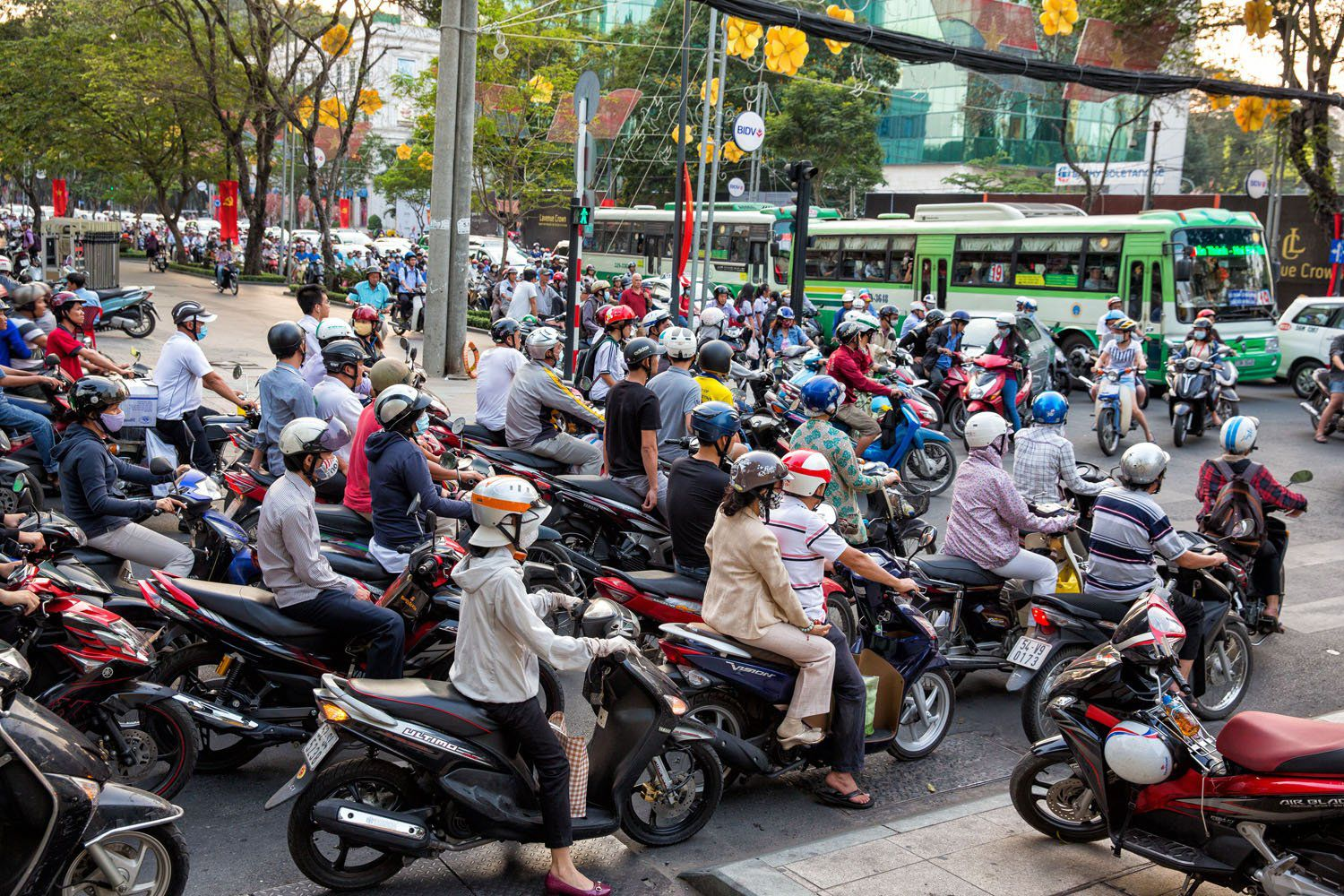 Sea of Motorbikes in HCMC