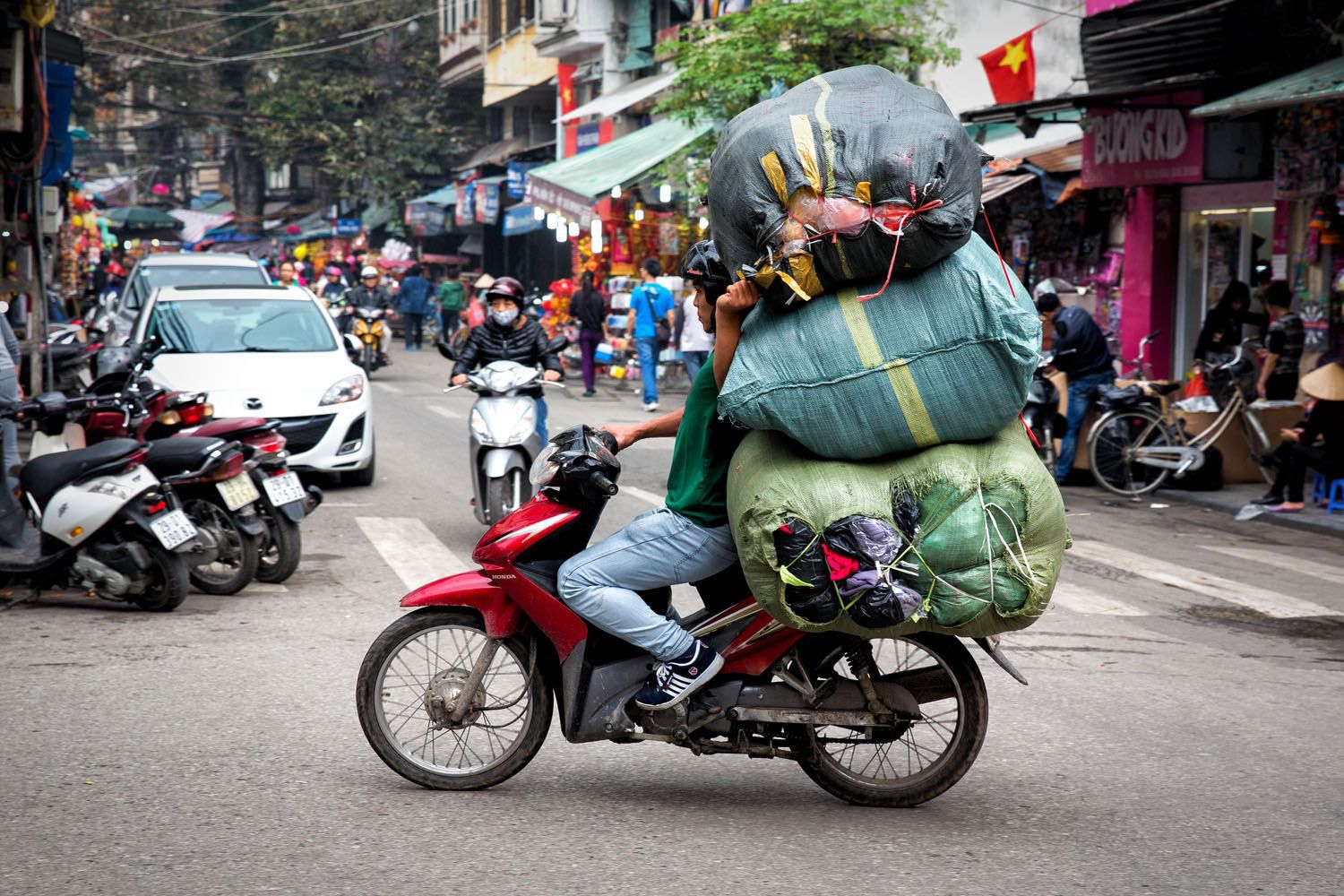 Vietnam Motorbike with Trash