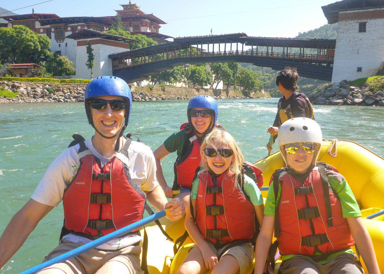 White Water Rafting in Bhutan