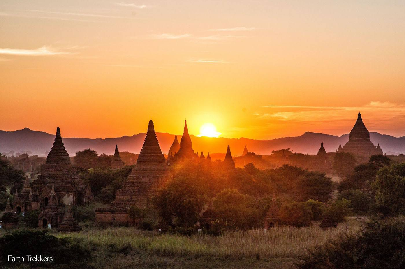 Amazing Bagan Sunset