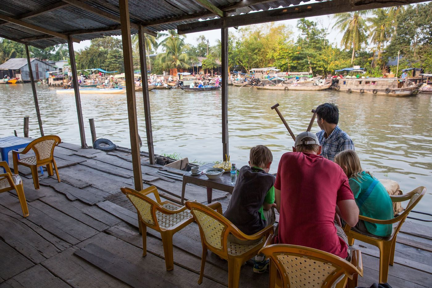 Breakfast on the Mekong