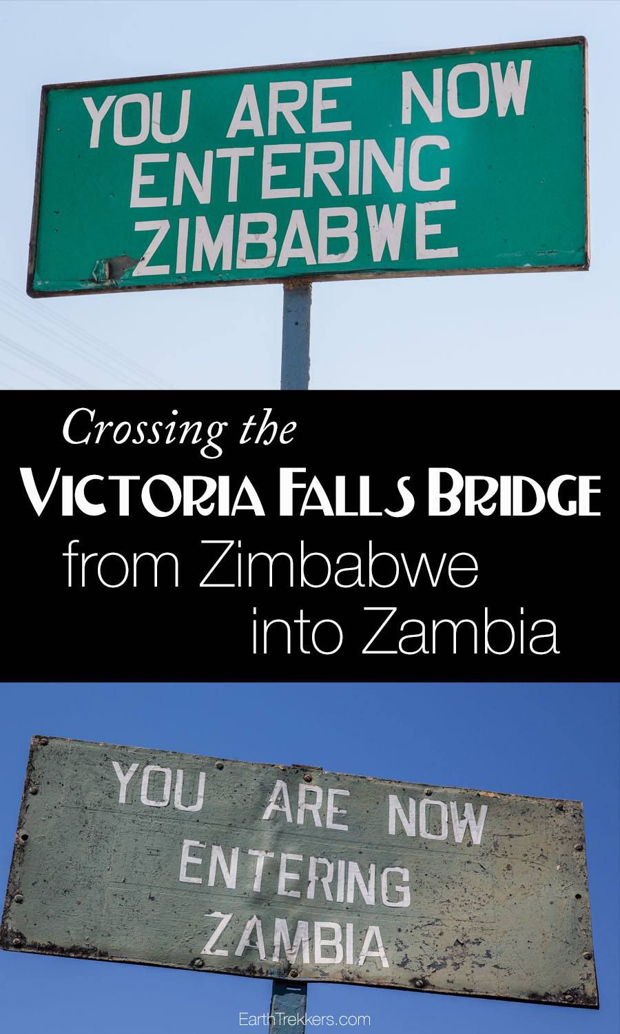 Crossing Zimbabwe into Zambia