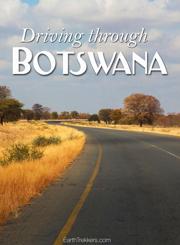 Driving in Botswana