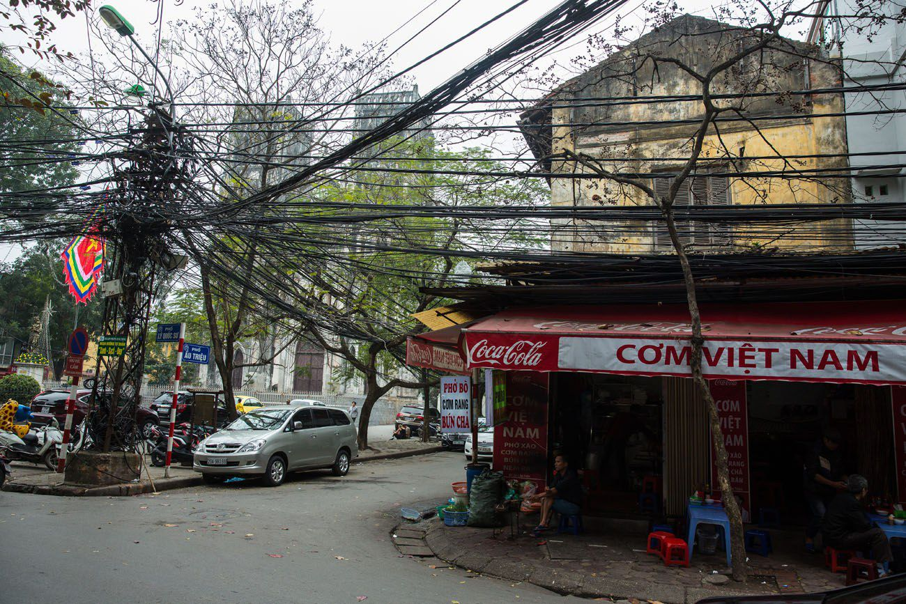 Electric Wires in Hanoi
