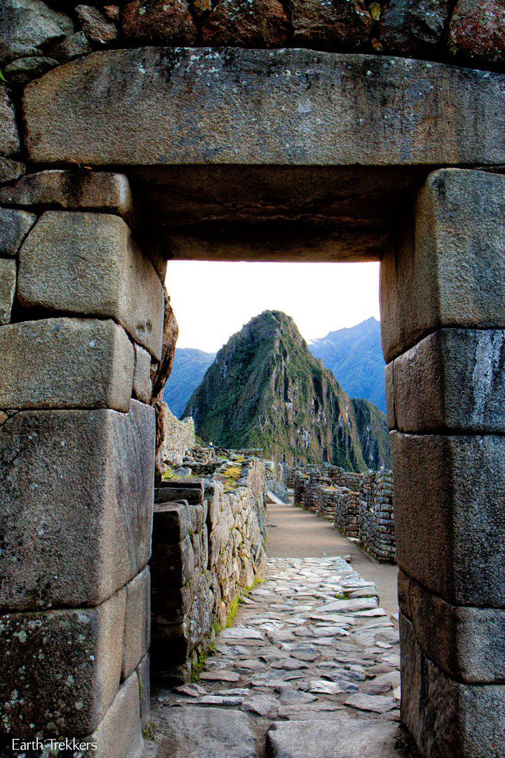 Entrance into Machu Picchu