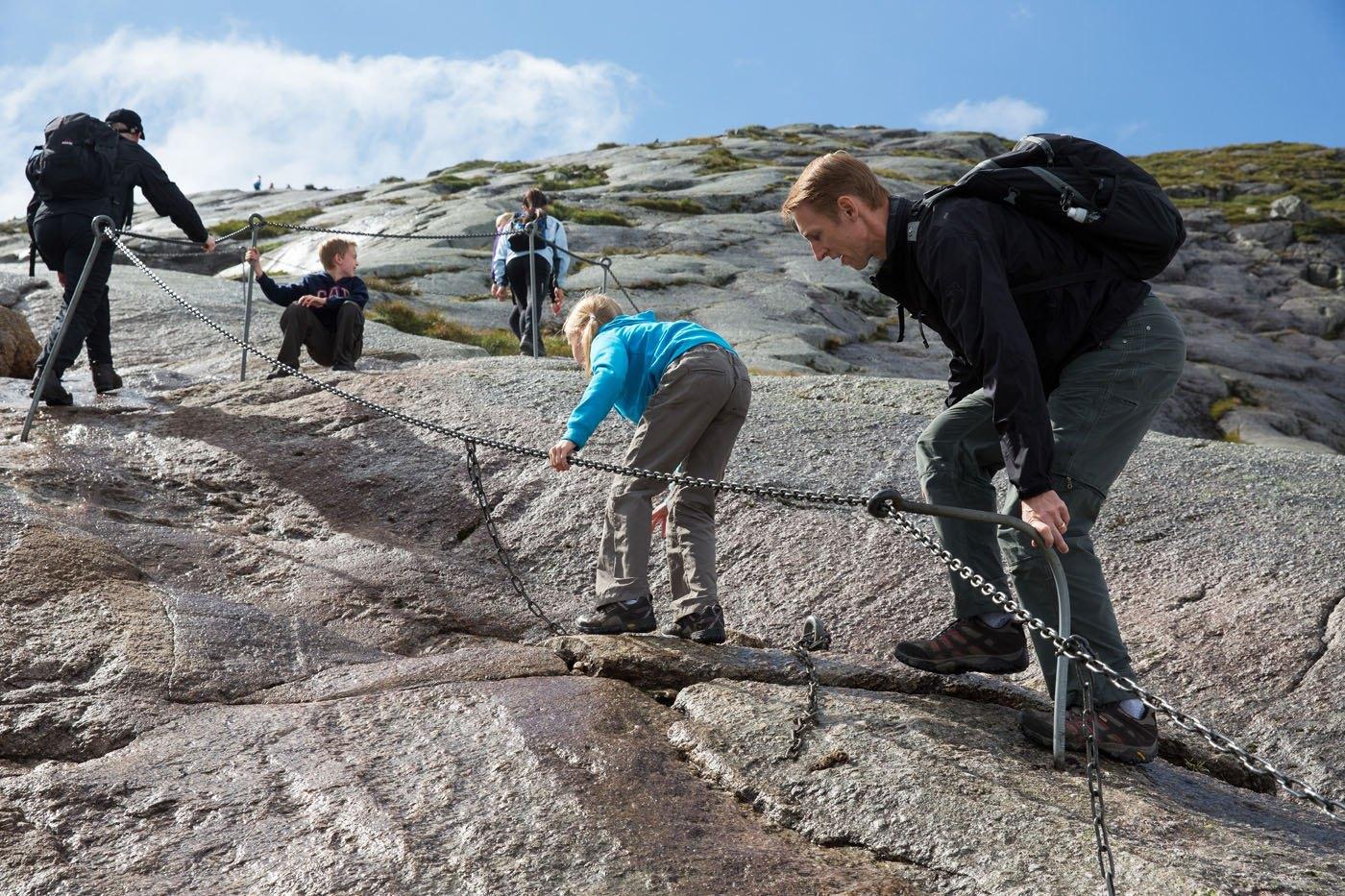 First Climb Kjeragbolten Hike