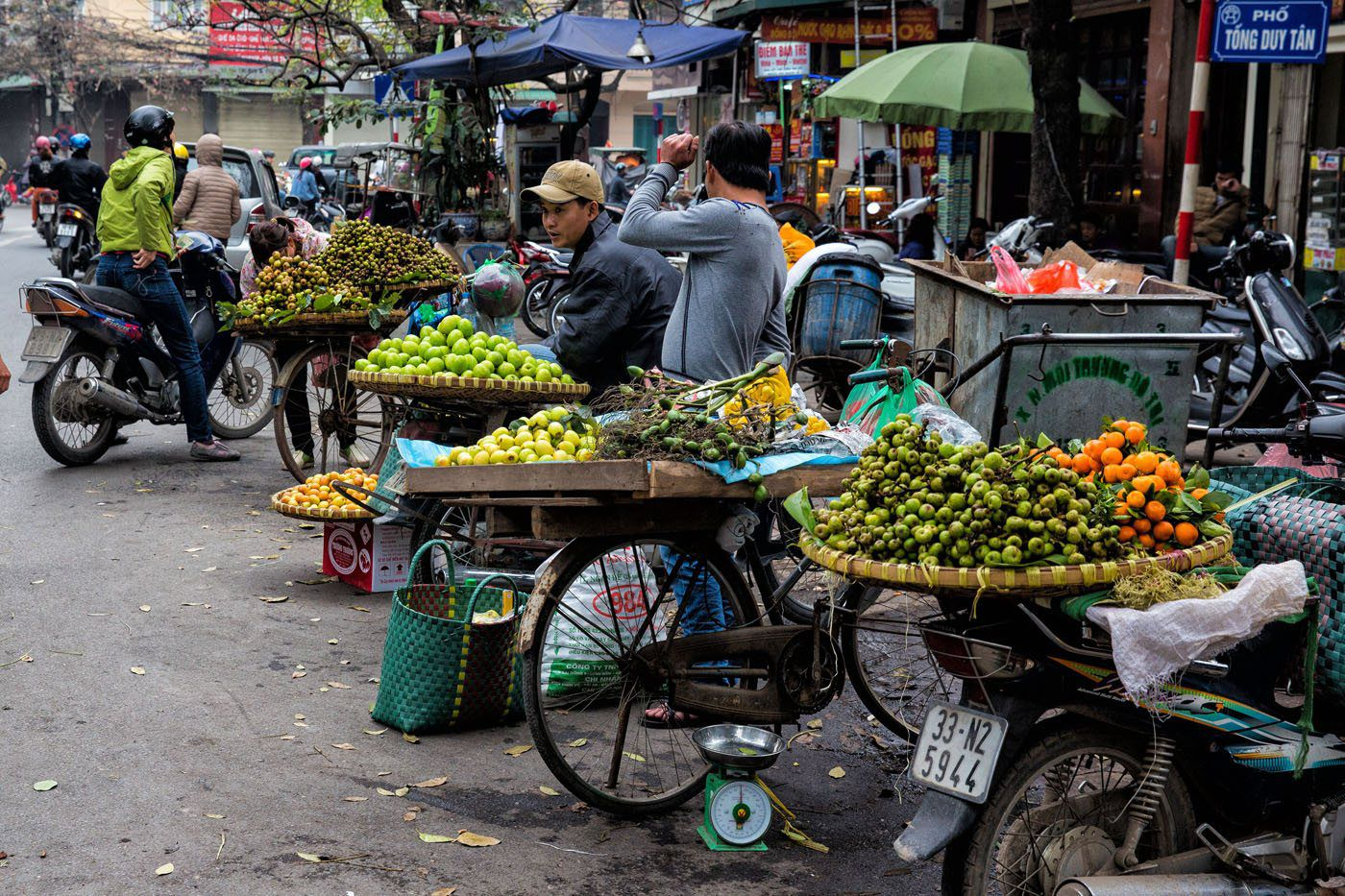 Fruit Street Vendors Hanoi