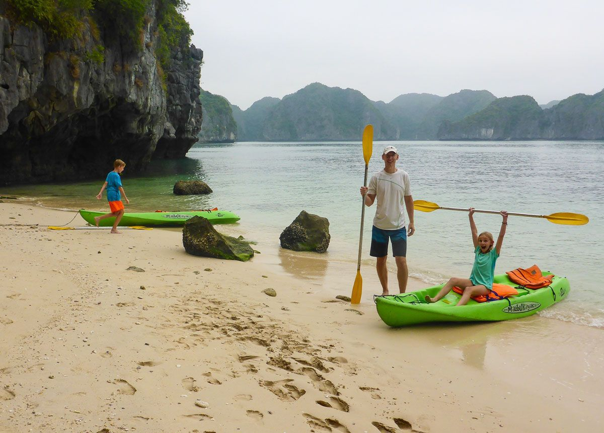 Halong Bay Family Kayaking