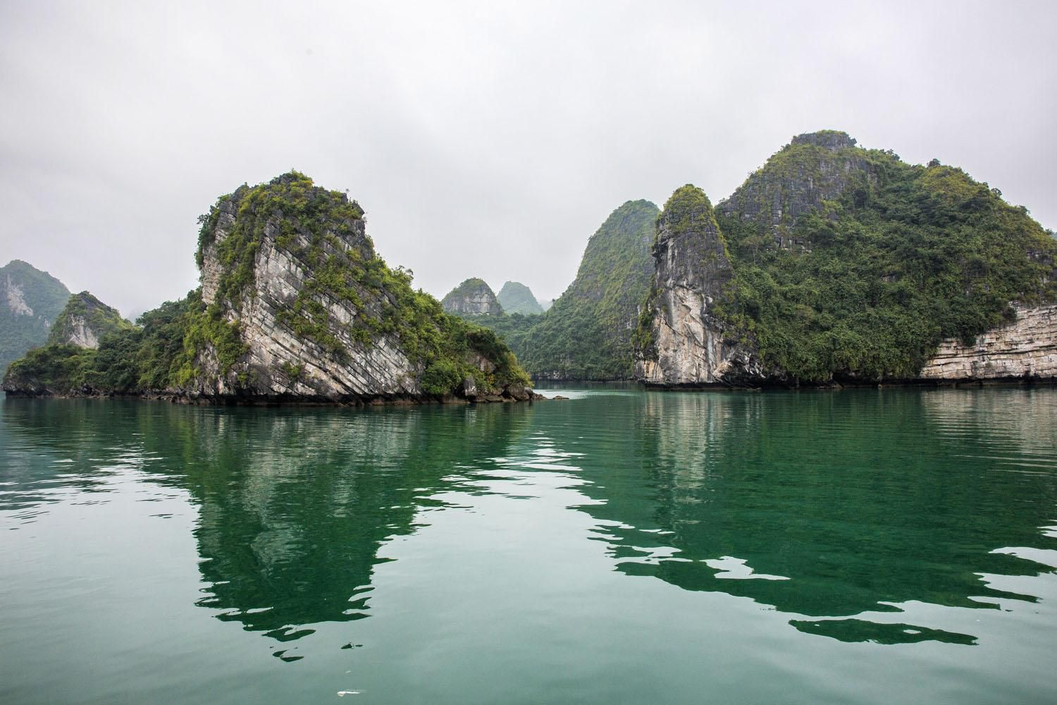 Halong Bay on a Cloudy Day