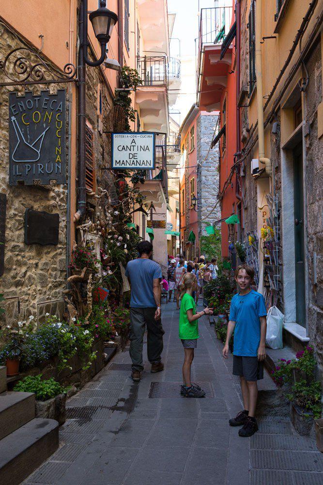 Walking through Corniglia