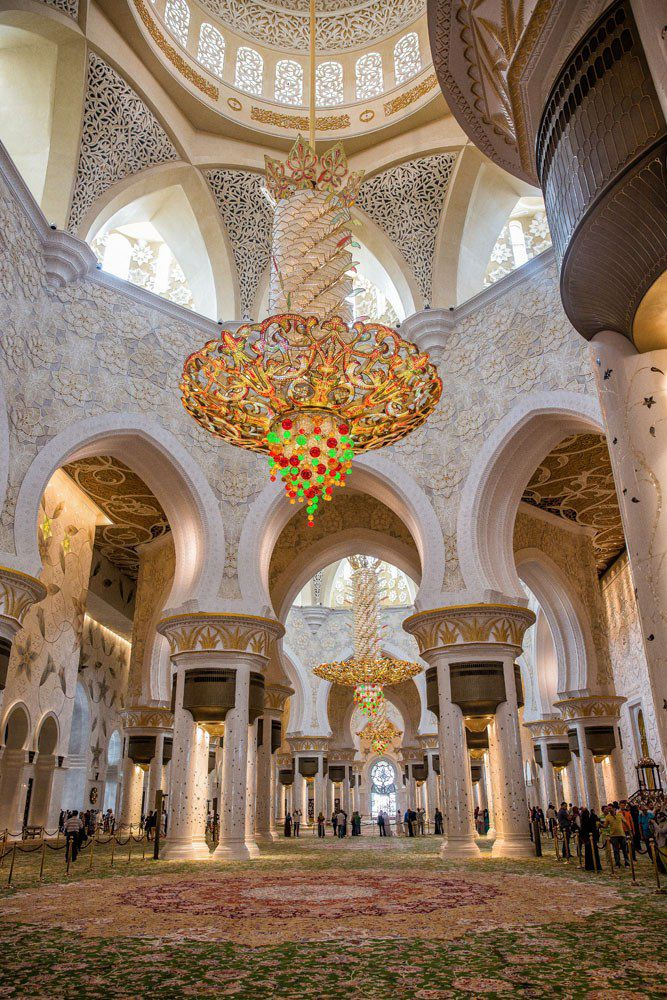 Inside Grand Mosque Abu Dhabi