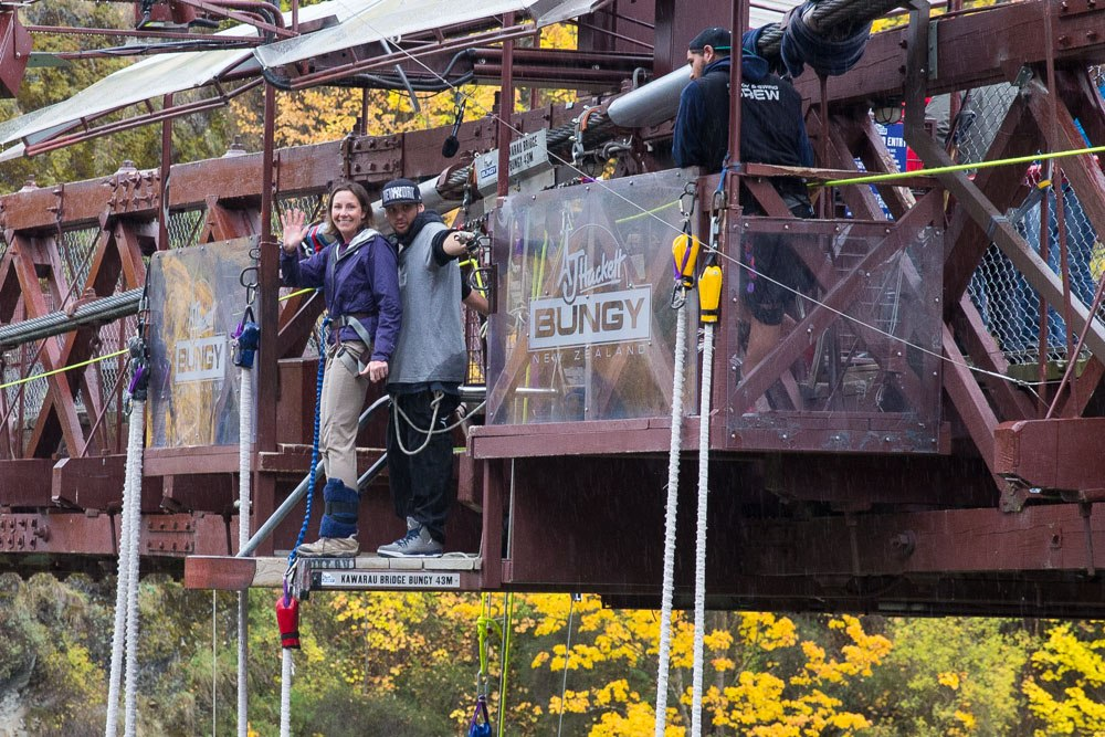 Julie Bungy Jumping