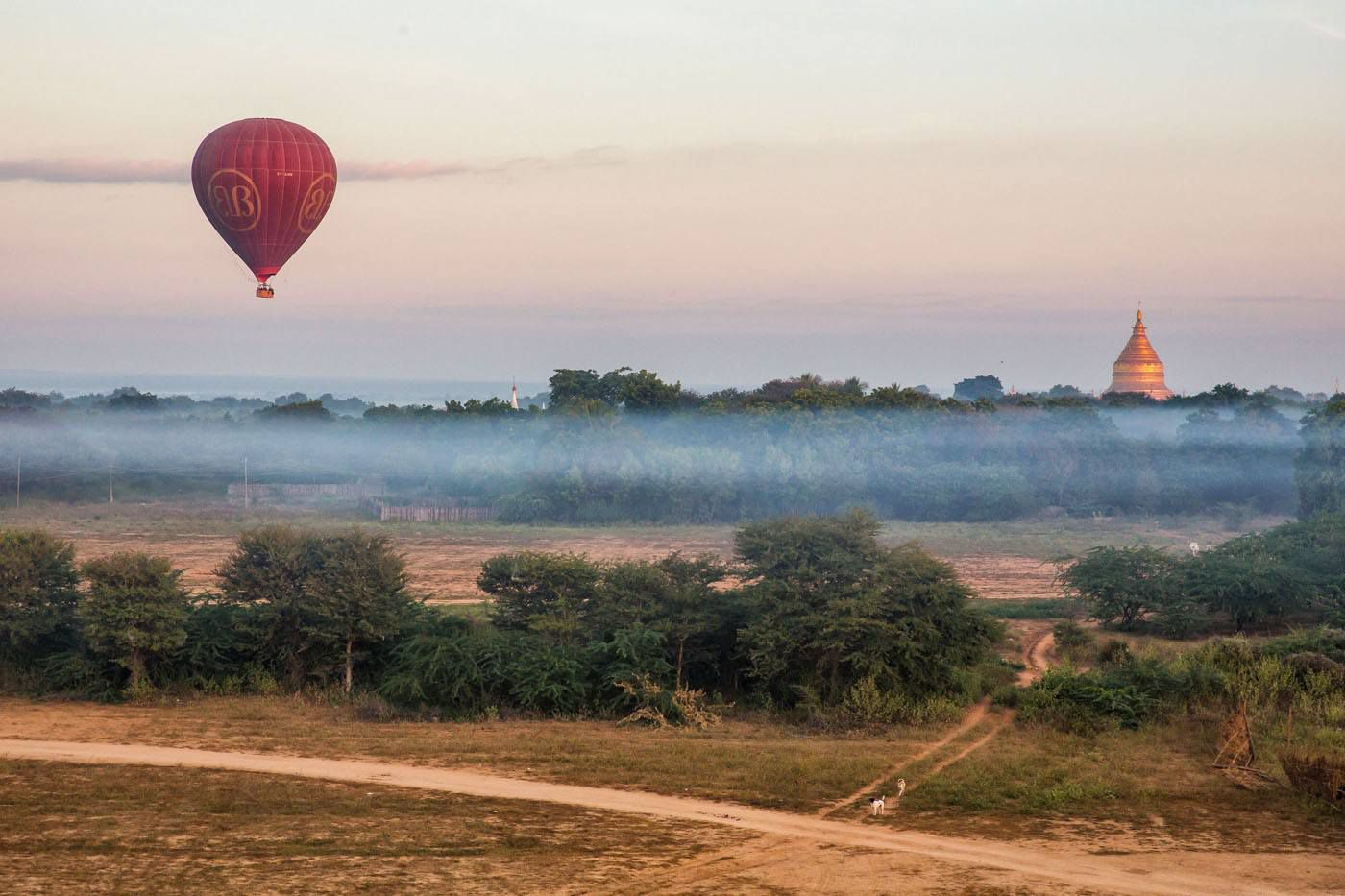 Lone Balloon in Bagan