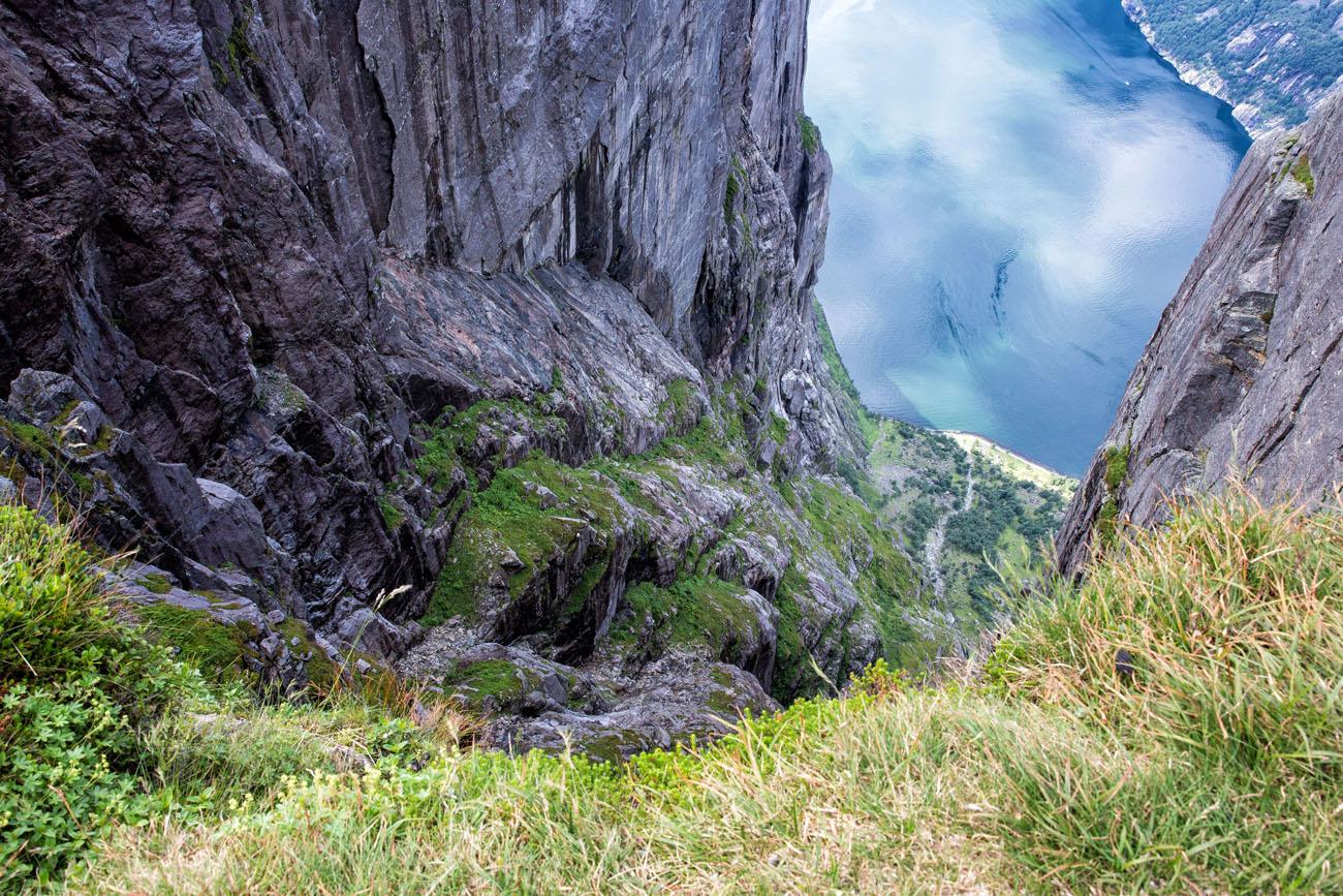 Looking Down at Lysefjord