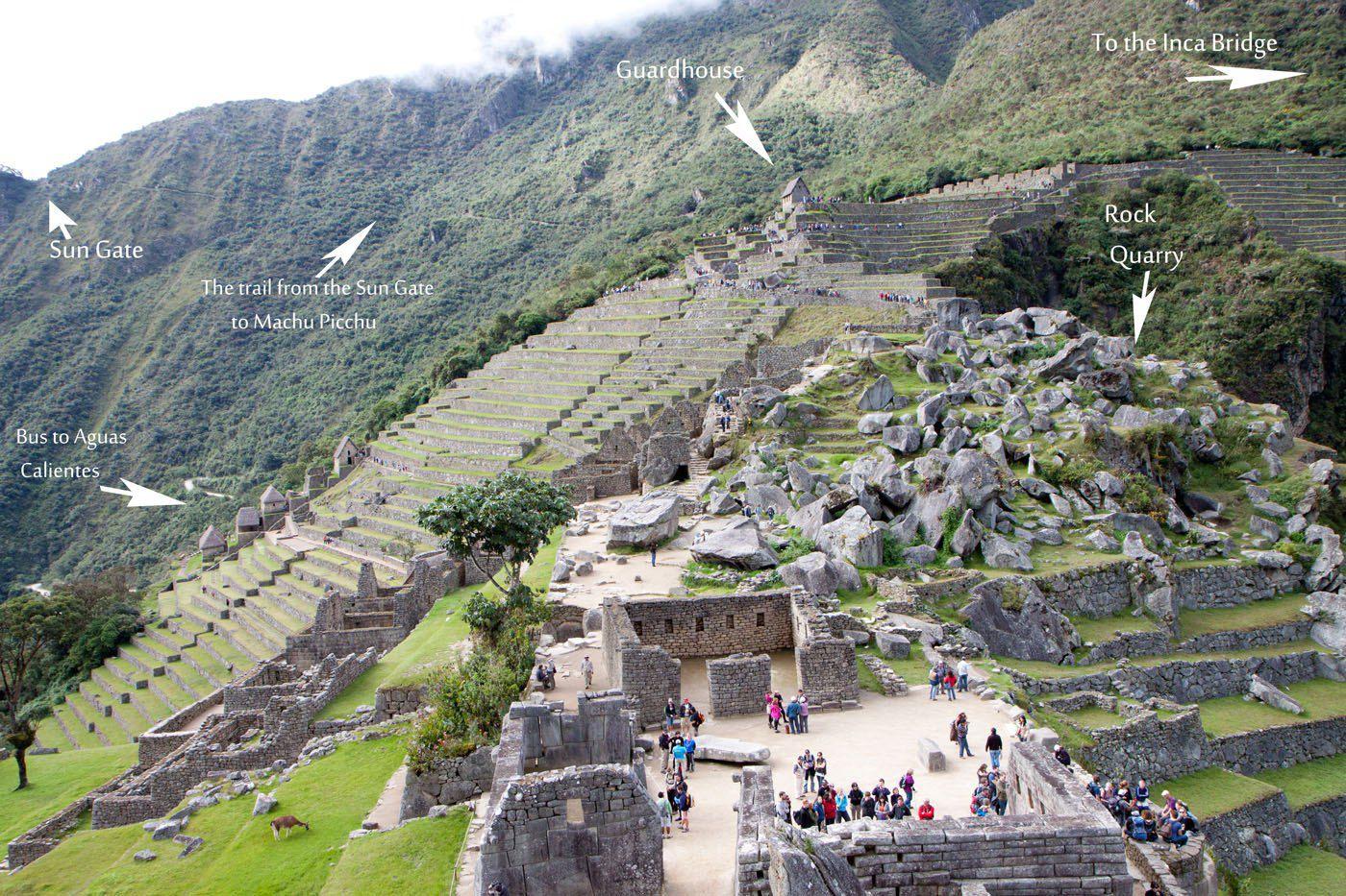 Machu Picchu Labelled