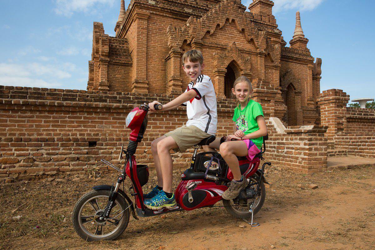 Motorized Bike in Bagan