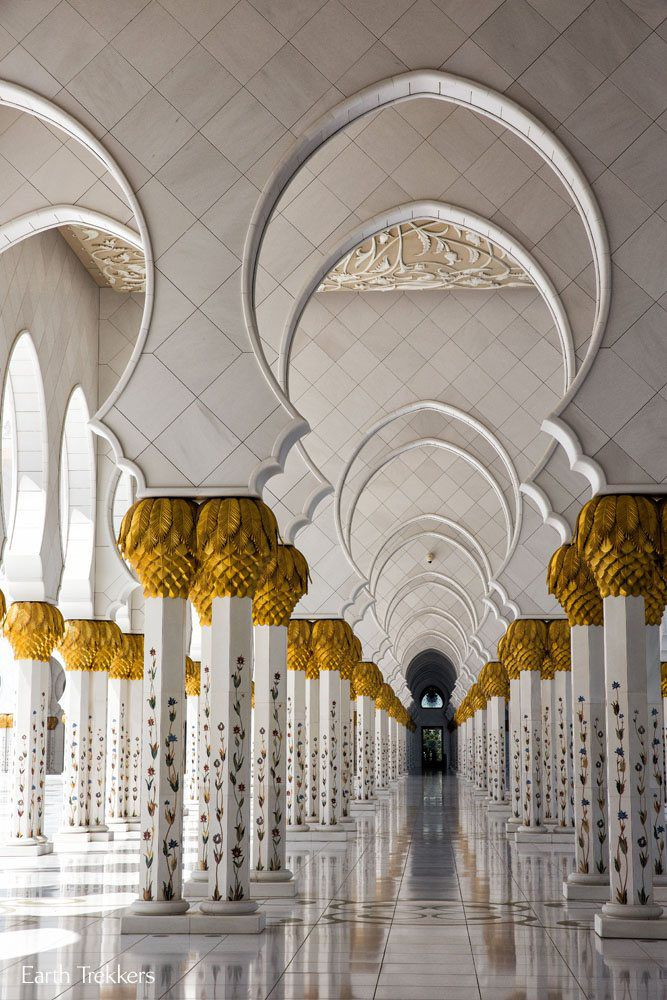 Outside Corridor Sheikh Zayed Grand Mosque