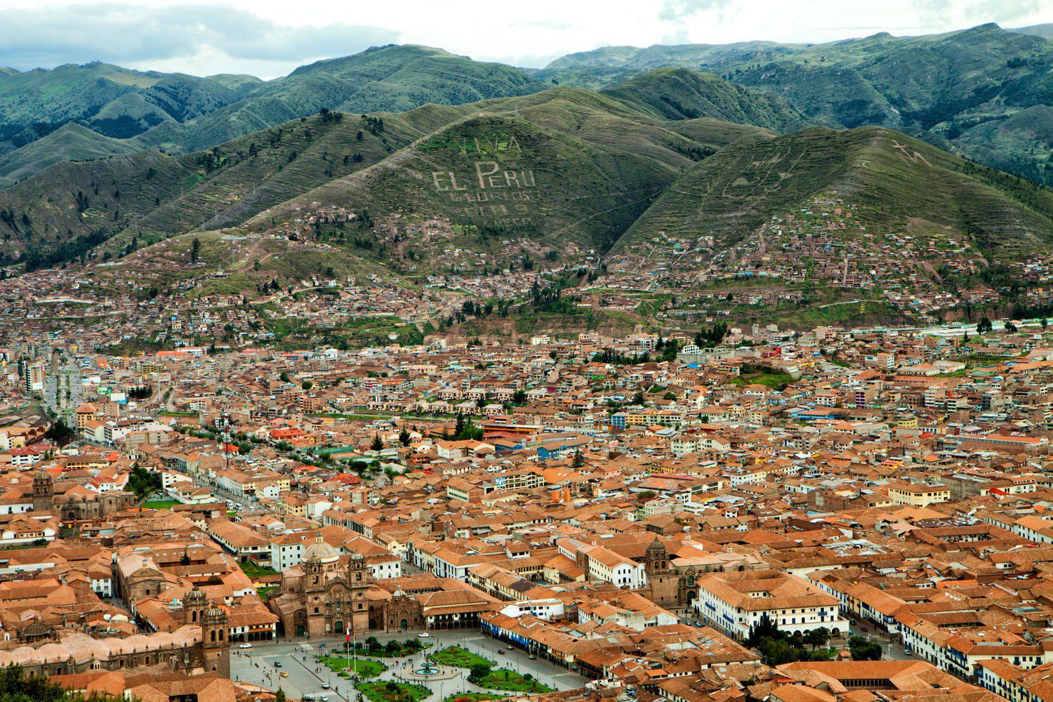 Overlooking Cusco Peru