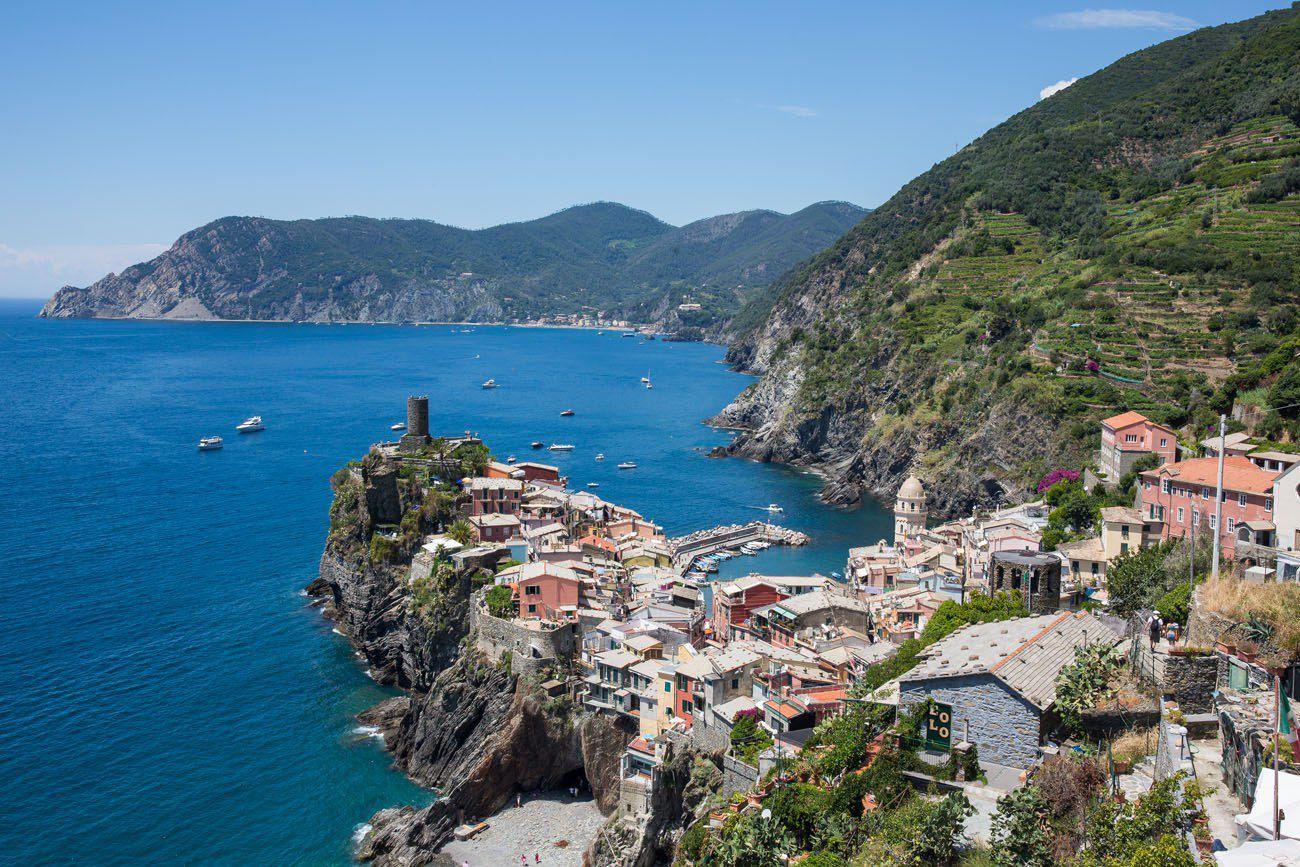 Overlooking Vernazza