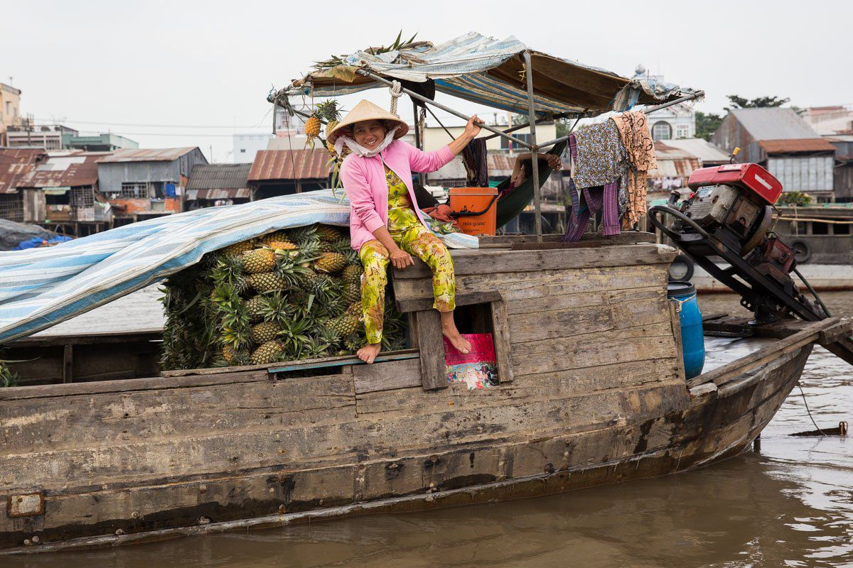 Pineapple Boat Mekong Delta