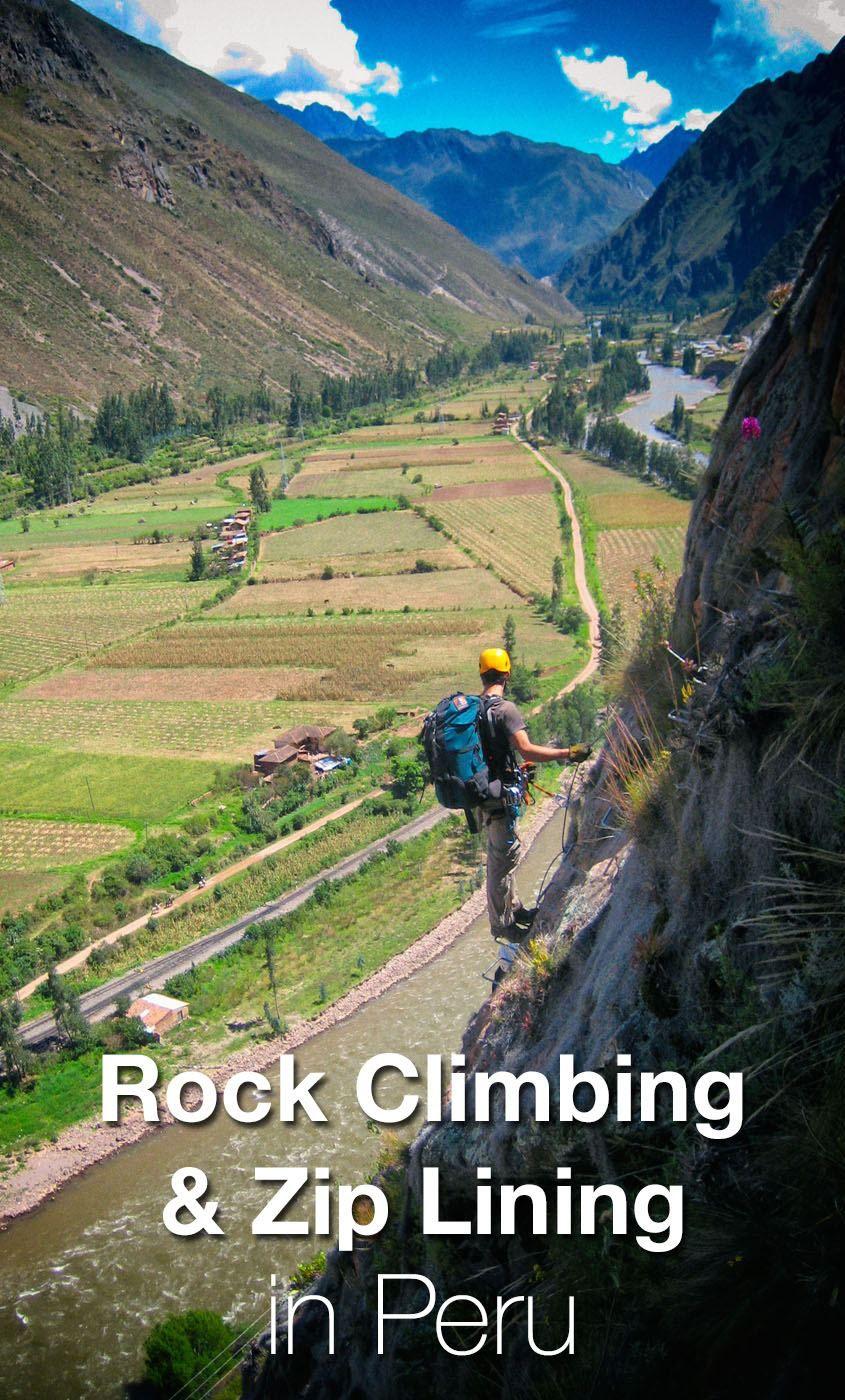 Rock Climbing and Zip Lining Peru