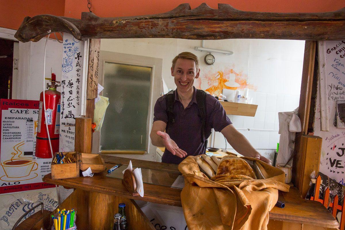 Tim Making Empanadas
