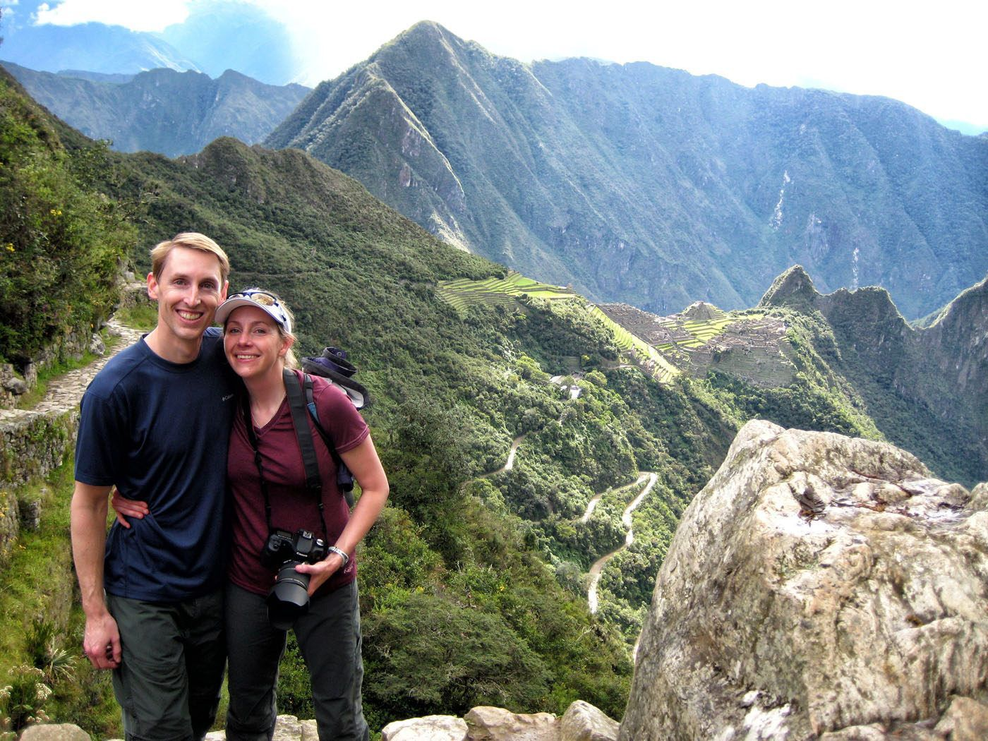 Tim and Julie at Machu Picchu