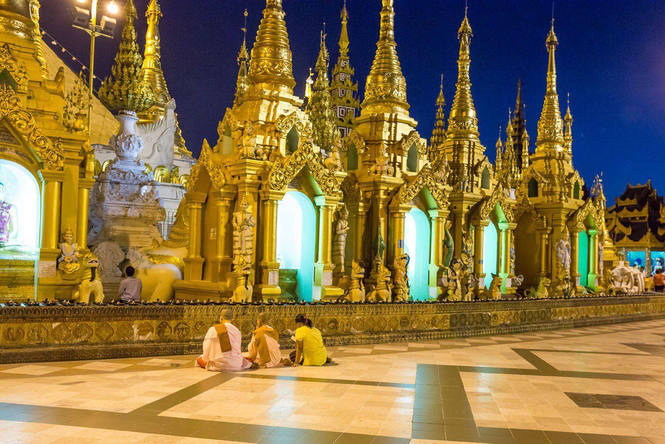 Touring the Shwedagon Pagoda