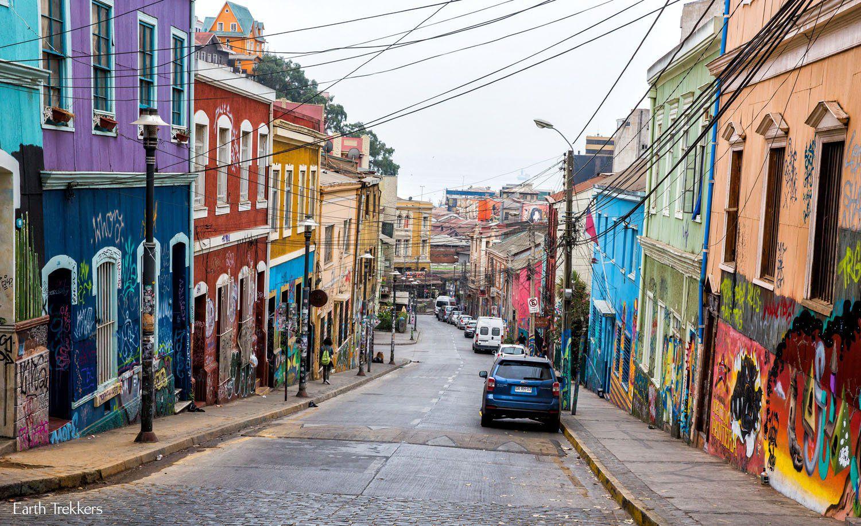 Valparaiso Chile City Street