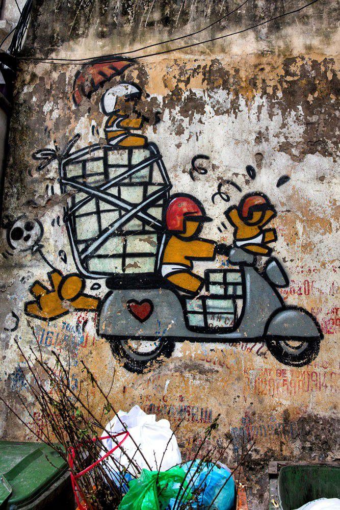 Vietnam Motorbike Graffiti