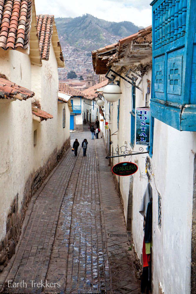 Walking through Cusco